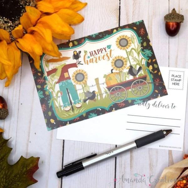 Happy Harvest Postcards