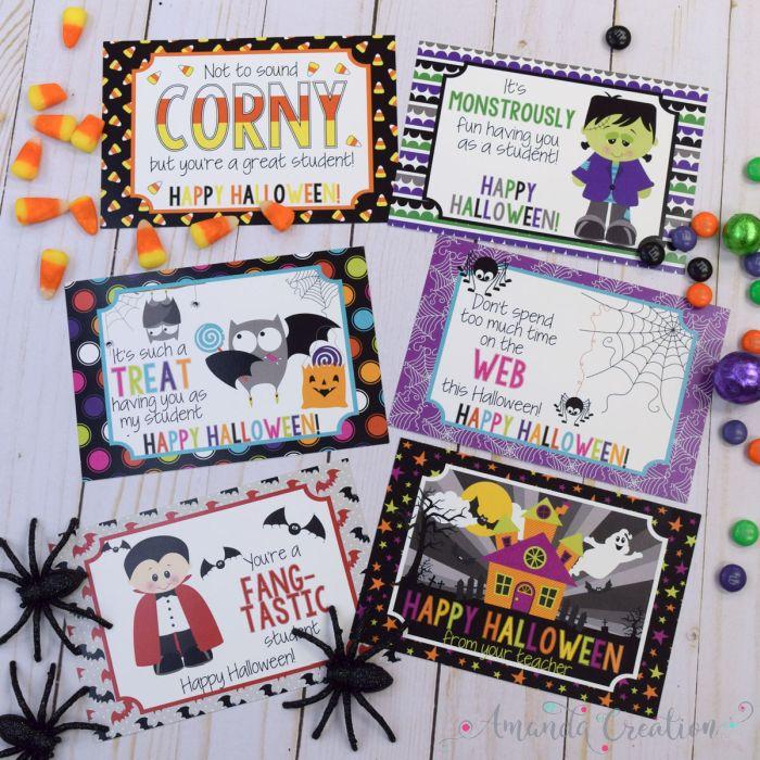 Halloween Teacher Postcards