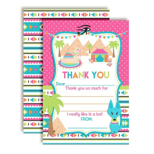 Ancient Egypt Pyramid Thank You Cards