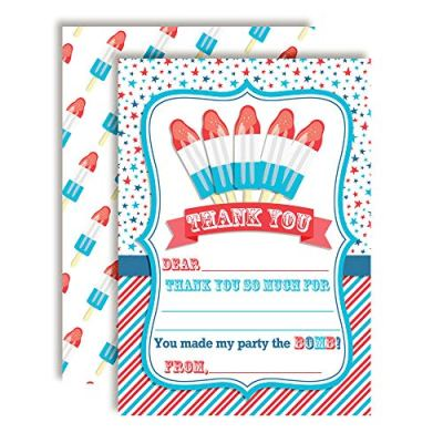 4th of July Bomb Pop Thank You Cards