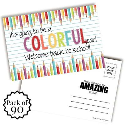 Crayon Back to School Teacher Postcards