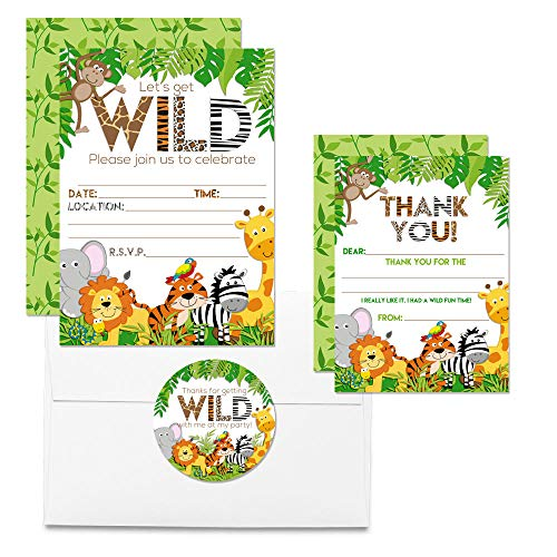 Jungle Animal Thank You Cards