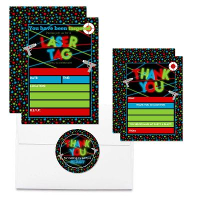Laser Tag Thank You Cards (Boy)