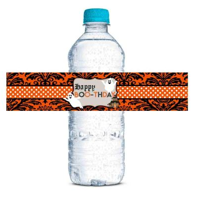 Halloween Ghost Boo-thday water bottle labels