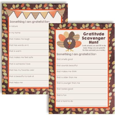 thanksgiving scavenger hunt game
