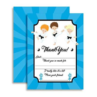 Martial Arts Thank You Cards