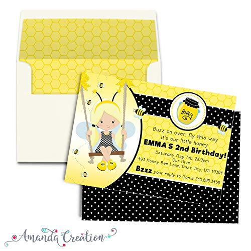 Little Honey Bumble Bee Birthday Party Invitation