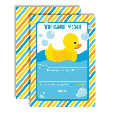 Little Rubber Duckie Thank You Notes