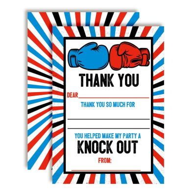 Boxing Thank You Cards