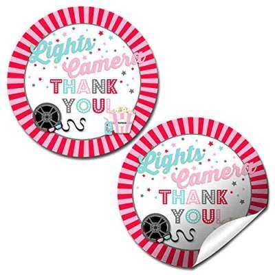 Movie Night Party Stickers (Girl)