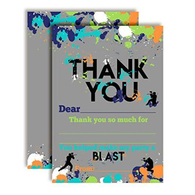 Paintball Thank You Cards