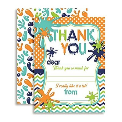 Slime Time Thank You Cards (Boy)