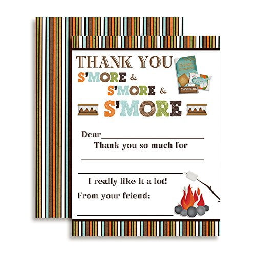 S'mores Thank You Cards