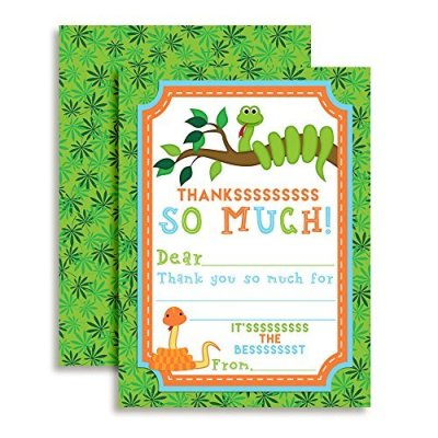 Snake Thank You Cards