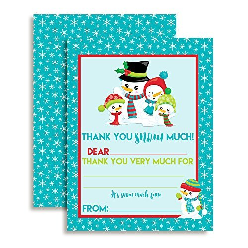 Snowman Thank You Cards
