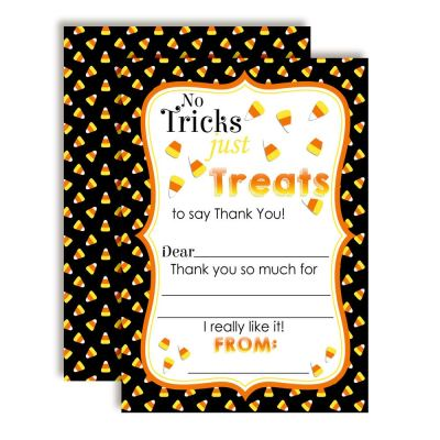 Candy Corn Thank You Cards