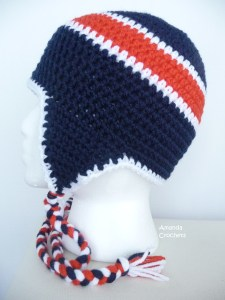 crochet football hats