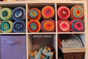 crochet room tour
