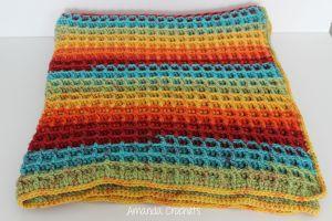 Waffle Stitch Blanket Pattern - Amanda Crochets
