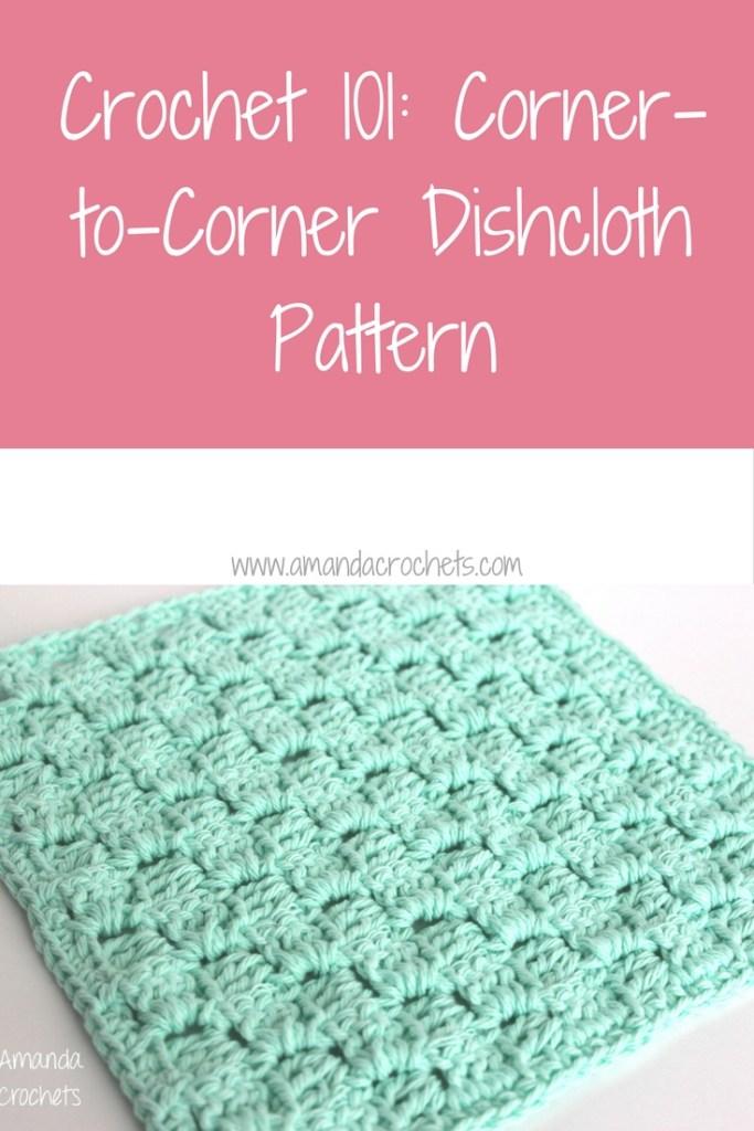 corner-to-corner dishcloth pattern