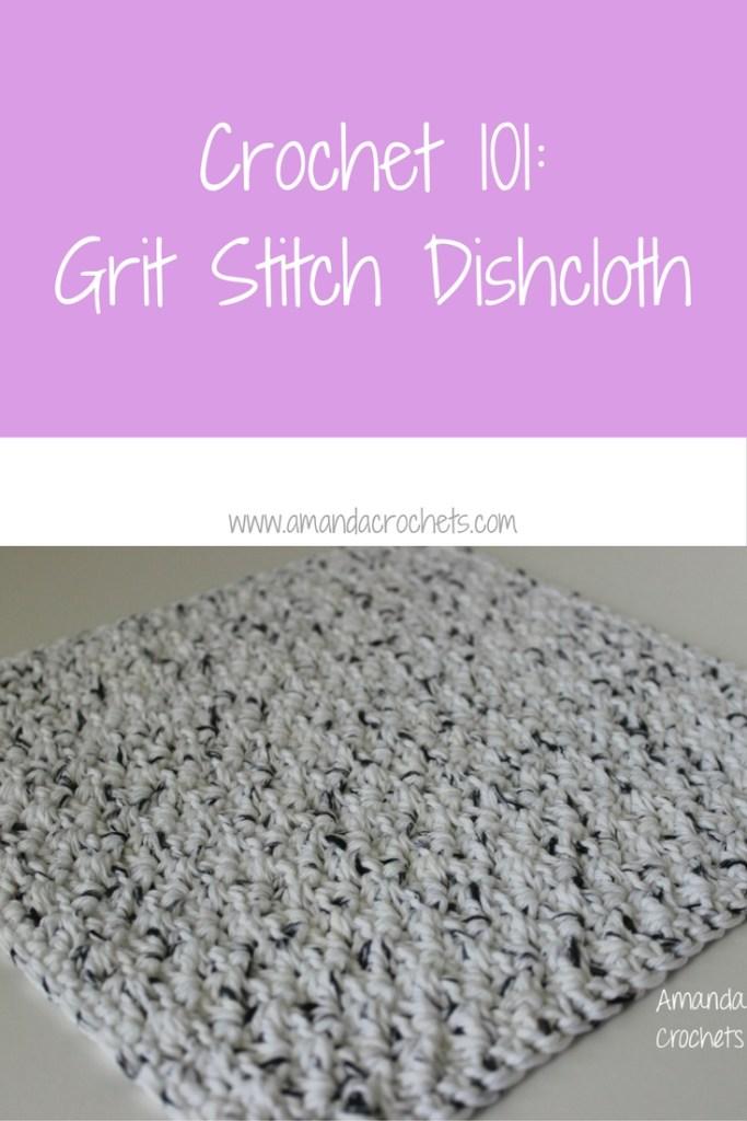 grit stitch dishcloth