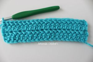 how to make the herringbone half double crochet