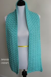 shell stitch scarf pattern