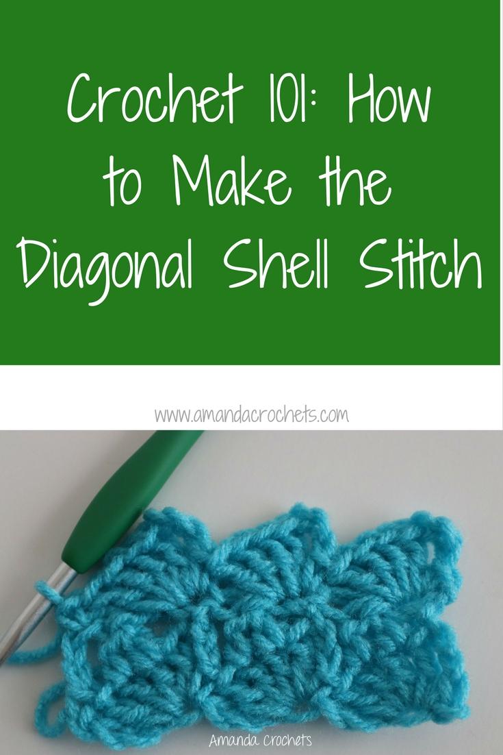 Amanda Shell how to make the diagonal shell stitch - amanda crochets