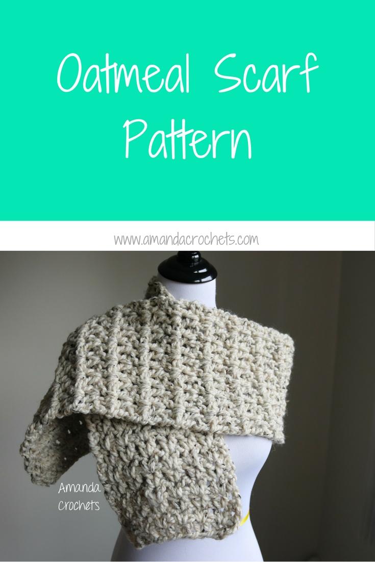 oatmeal scarf pattern