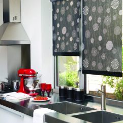 Kitchen Shutters Black And White Accessories Blinds   Amanda For & Curtains