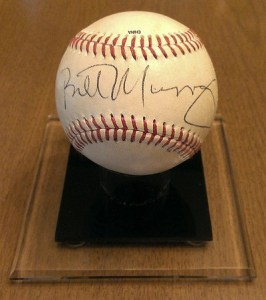 Baseball Signed by Bill Murray