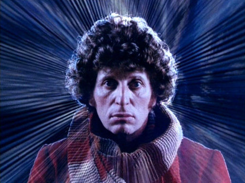Tom Baker In Slit Scan Opening Credits