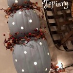 Pumpkin Topiary With Lights Amanda Jane Brown