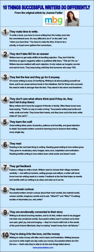 10 things succssful writers