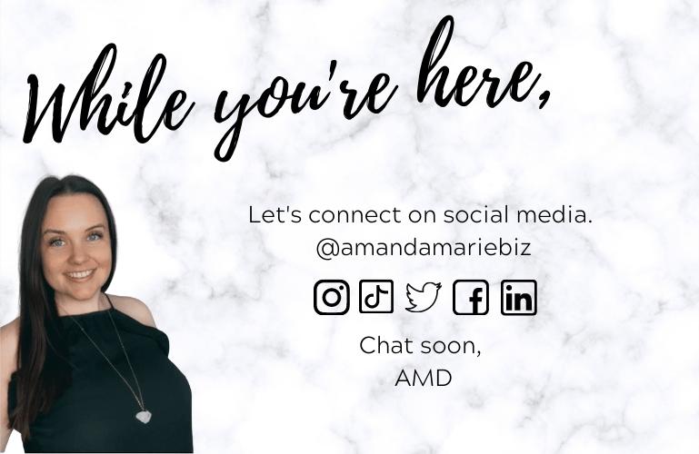 AmandaMarieBiz - Let's connect