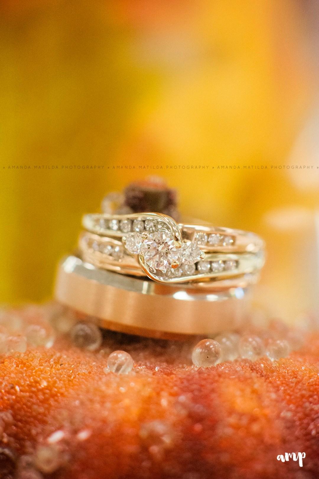 Autumn/Fall Wedding Ring detail shot | Grand Junction Wedding Photographer
