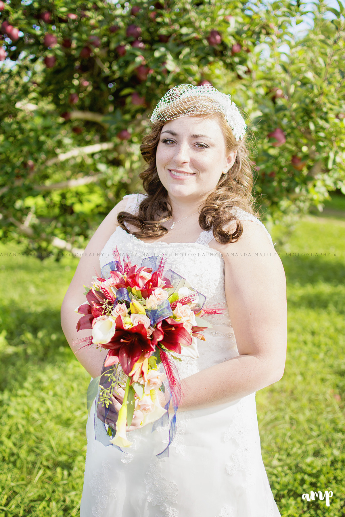 Bride in Apple Orchard | Grand Junction Wedding Photographer