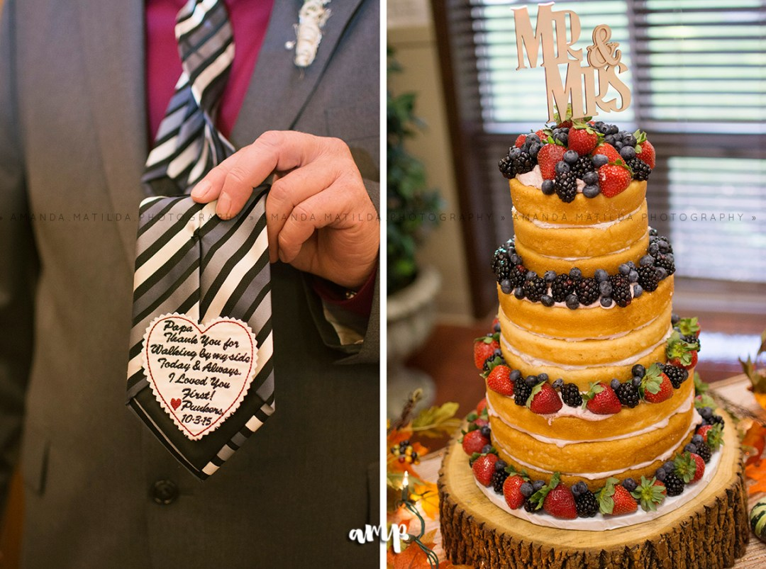Dad's Tie Detail and naked cake | Grand Junction Wedding Photographer
