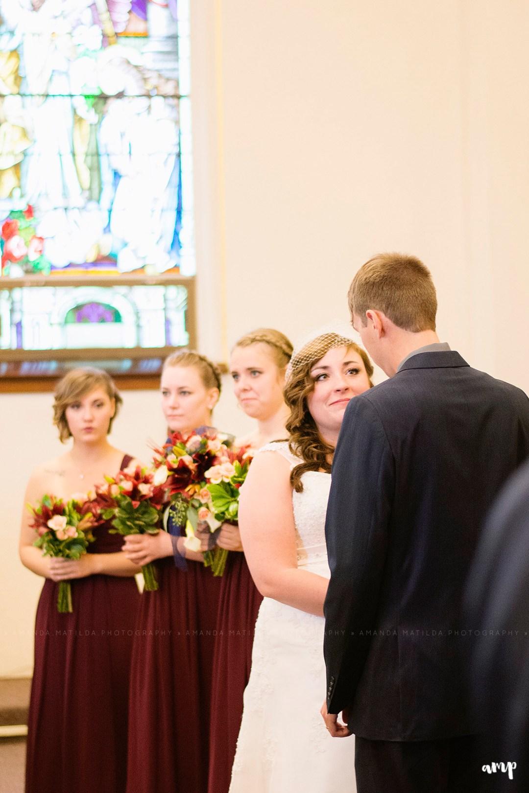 Bride & Groom in Sanctuary | Grand Junction Wedding Photographer
