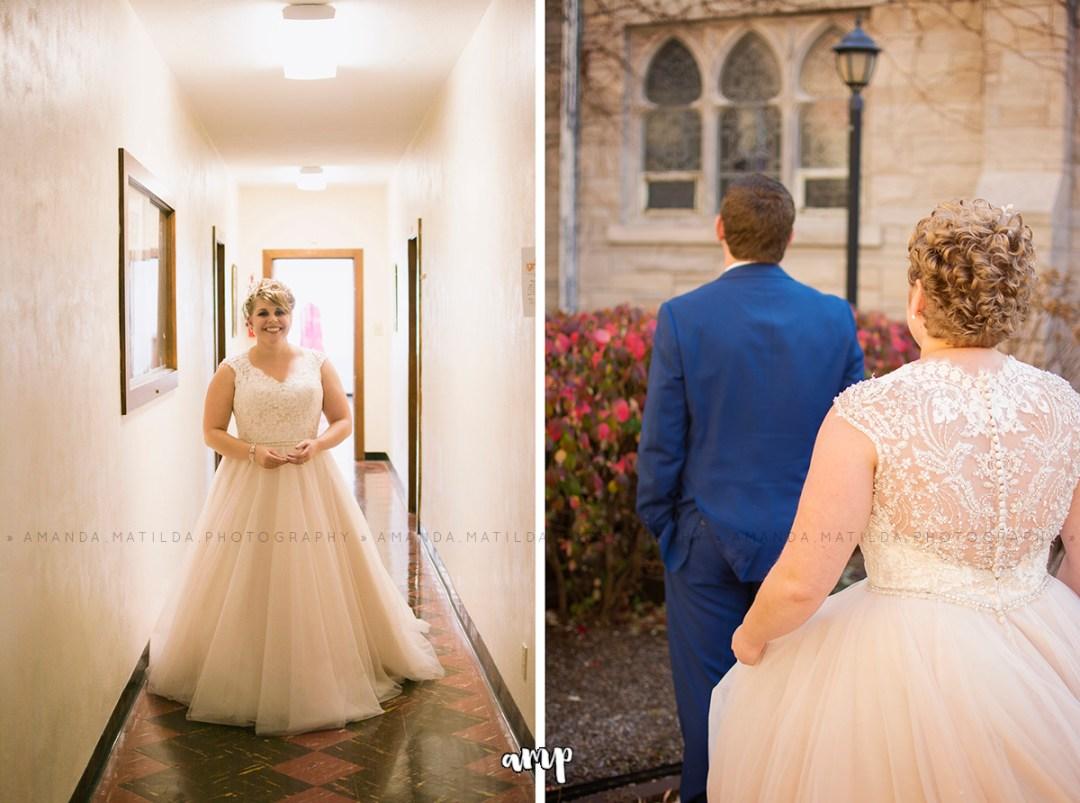 autumn wedding first look | Grand Junction Colorado wedding photographer