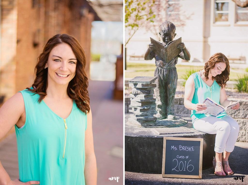 Teacher themed senior photos   Grand Junction Colorado senior photos