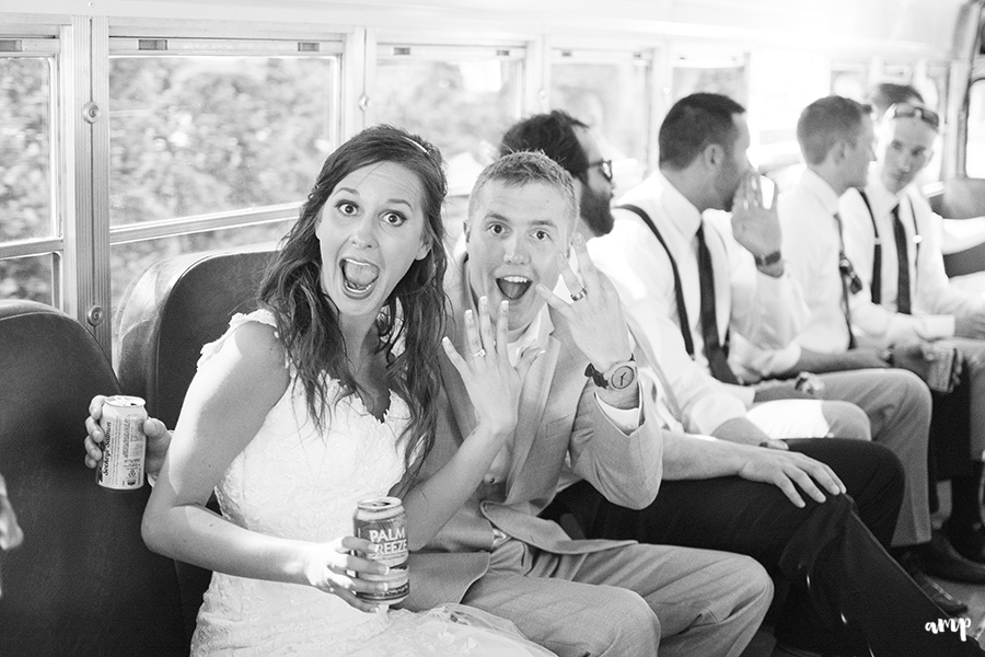 I Loved Just married party bus | Palisade Winery Wedding Photographer