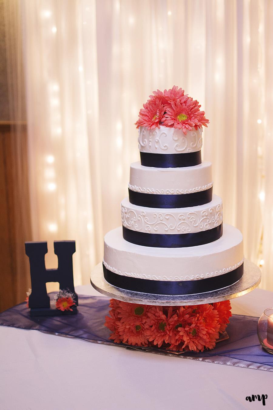 Wedding Reception Cake | Palisade Winery Wedding Photographer