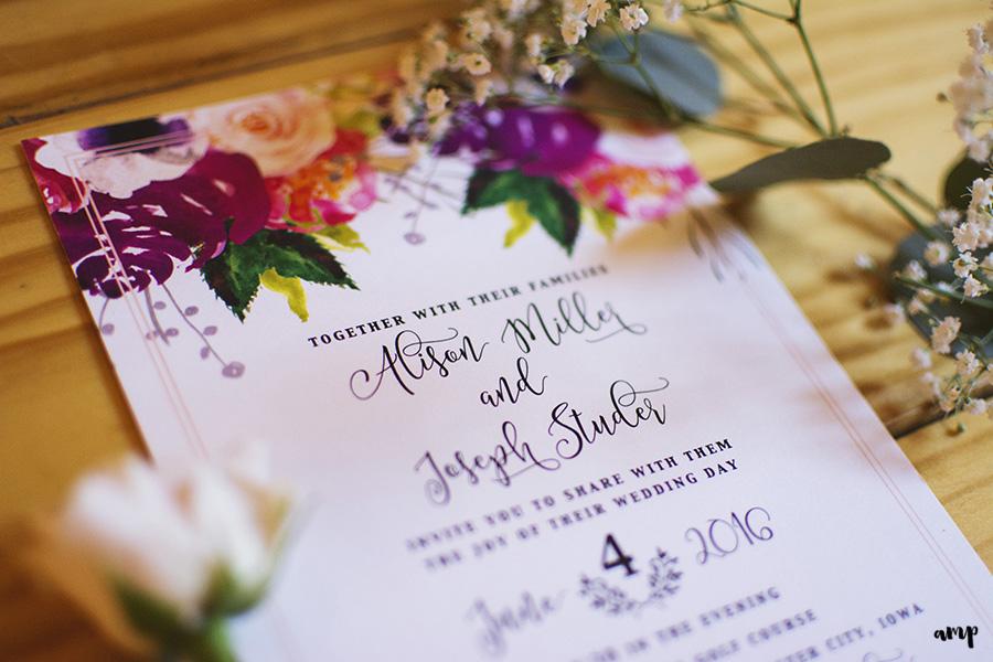 invitation suite | Ali and Joe's #gardenwedding by amanda.matilda.photography | Colorado Wedding Photographer