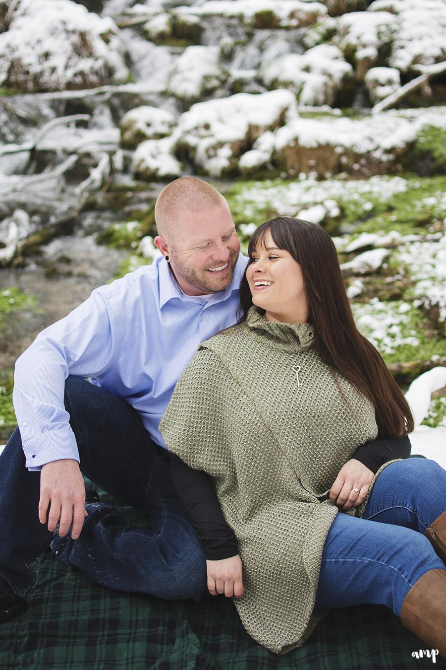Rifle Fall Cascades Engagement Photographer | amanda.matilda.photography