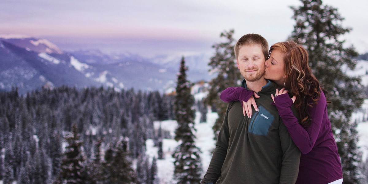 Crested Butte sunrise engagement session in the mountains