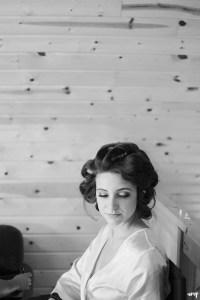 Bridesmaid getting ready at a wedding