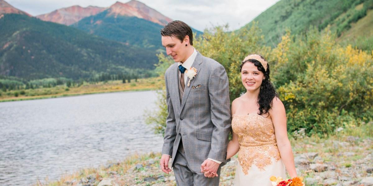 Fall wedding near Red Mountain in Ouray | amanda.matilda.photography