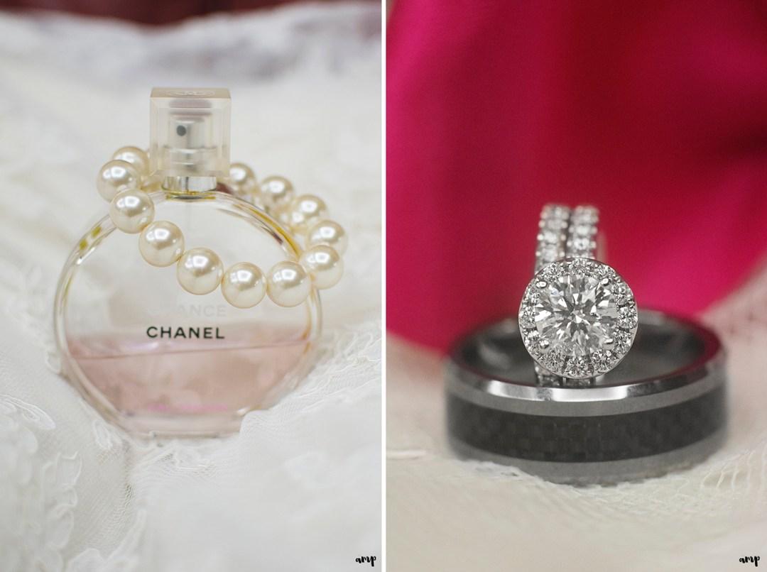 Chanel perfume and wedding rings