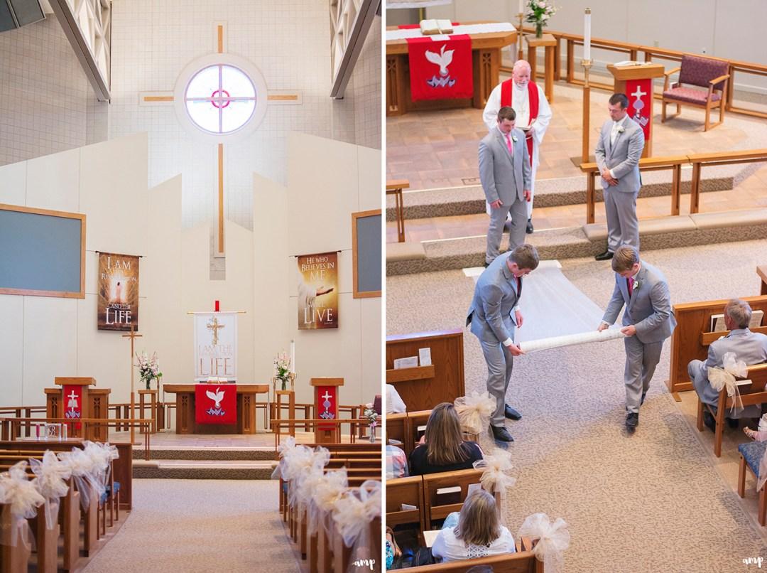 Wedding ceremony at St. Paul Lutheran church